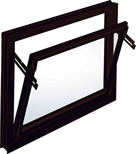 Kellerfenster Kippfenster Mealon Iso-Glas braun Breite 60 cm untersch. Höhen, Größe Kippfenster:60 x 40 cm