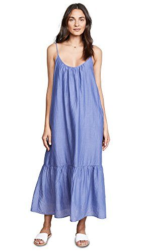 Velvet by Graham & Spencer Women's Abara Silk Cotton Voile Dress, Serenity, XS Silk Voile Dress