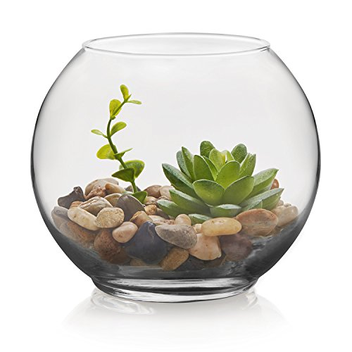 floral glass bowl set - 1