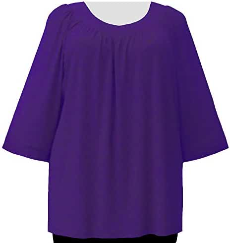 A Personal Touch Women's Plus Size Purple V-neck Top