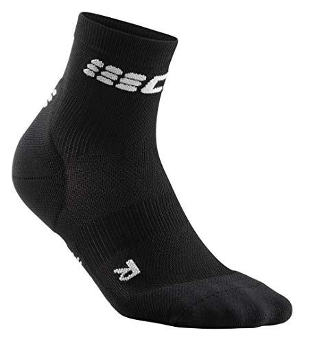 CEP Women's Compression Socks Ultralight Short Socks, Black/Grey III