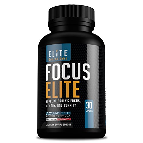 Brain Booster Supports Focus, Memory, Clarity, & Energy by Elite Source LabsTM, Brain Function Supplement Natural Nootropic Advanced Formula with Bacopa Monnieri, Ginkgo Biloba, & More, 30 Caps