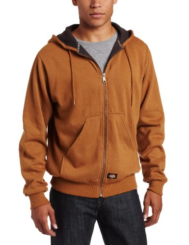 Men's Thermal Lined Fleece Jacket, Brown Duck, 4X-Large