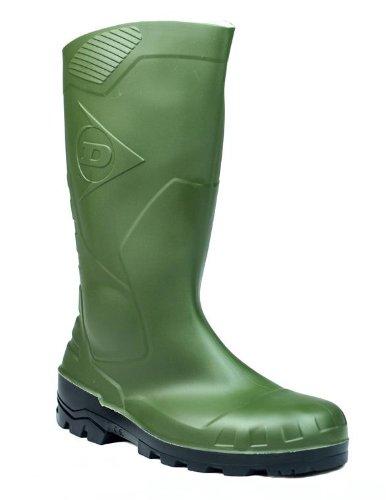 Dunlop Devon Welly Erwachsene Slip-On Schuh, Schuh, Stahlkappe, wasserfest, Grün