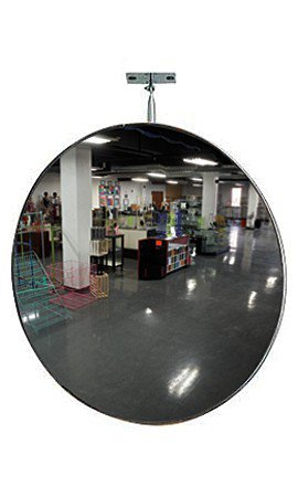 1pc, 26 inch Convex Security Mirror with Adjustable Bracket