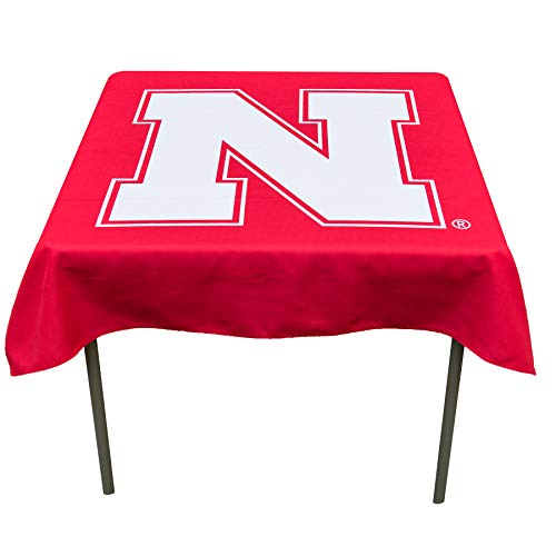 College Flags and Banners Co. Nebraska Cornhuskers Logo Tablecloth or Table Overlay ()
