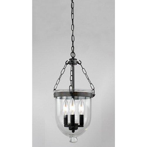 Antique Copper Finish Glass Lantern Chandelier (Antique Iron Finish Chandeliers)