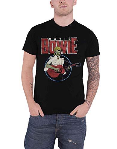 David Bowie T Shirt Acoustic Bootleg Logo Official Mens Black Size XXL