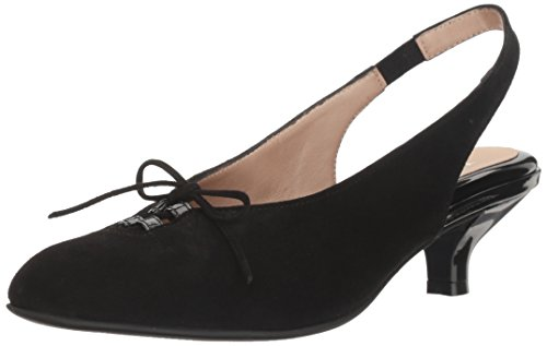 Beautifeel Women's Gilly Dress Pump, Black Suede, 37 EU/6-6.5 M US