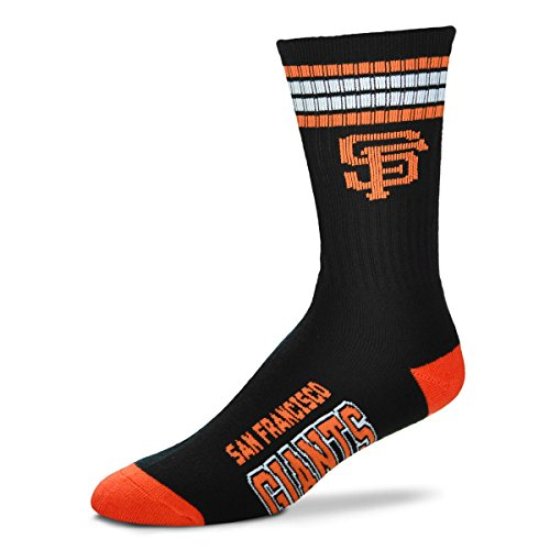San Francisco Giants 4 Stripe Crew Socks Size Large Mens 10-13