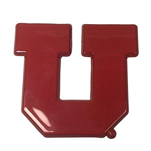 """University of Utah Utes Red """"U"""" Premium Metal Auto Emblem"""
