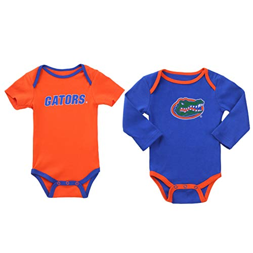 NCAA Florida Gators 2 pc Baby Bodysuits (0-3) Blue and Orange