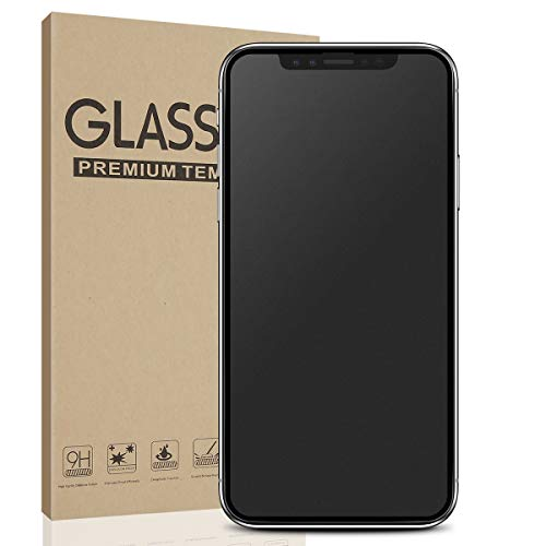 Matte Glass Screen Protector for iPhone X/Xs Full Screen, Anti-Glare & Anti-Fingerprint No Dazzling Tempered Glass 9H Hardness HD Clear Case Friendly 3D Touch Bubble Free Shield Film for iPhone X/Xs