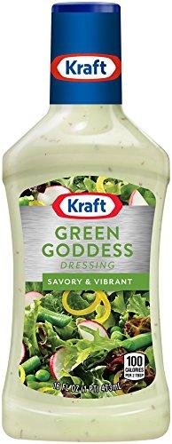 Kraft, Green Goddess Dressing, 16oz Bottle (Pack of 3)