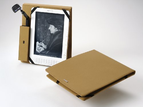 Periscope Flip Cover+Light for the Kindle DX in Camel Microfiber by Periscope