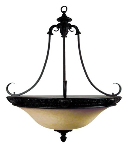 Verona Collection Pendant (Yosemite Home Decor F023D04SB Verona Four Light Foyer Pendant, Sienna Bronze Finish)