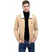 WM & MW Motorcycle Jacket,Cool Men's Coat Suede Patchwork Turndown Collar Zipper Jacket Sweatshirt Tops Outwear
