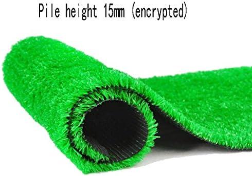 XEWNEG 15mm 緑の人工芝、暗号化されたカーペットマット、イージーケア、退色なし、滑り止めマット、庭の屋外バルコニーの装飾に適しています (Size : 2x9M)