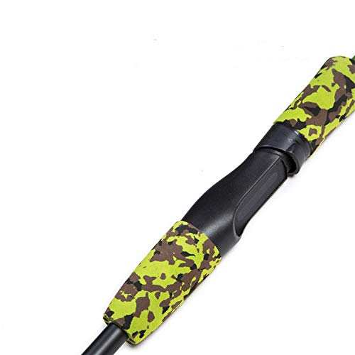 (Luohe yuanhui district injury cui department store Green Camouflage Portable 1.8M 3.4 20g Lure Test M Action Carbon Fiber Travel Carp Spinning Fishing Rod,White,1.8 m)