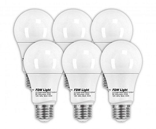 New 60 Watt Equivalent SlimStyle A19 LED Light Bulb 2700K Dimmable 6 Pack