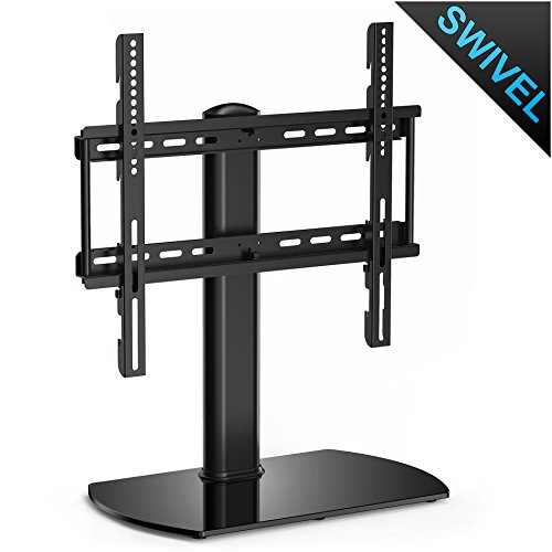 Fitueyes Universal TV Stand Base Swivel Tabletop TV Stand with mount for 32 inch to 50 inch Flat screen Tvs/xbox One/tv Component /Vizio Tv (TT104501GB) (Tv Base)