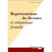 Représentation du discours: Et sémantique formelle