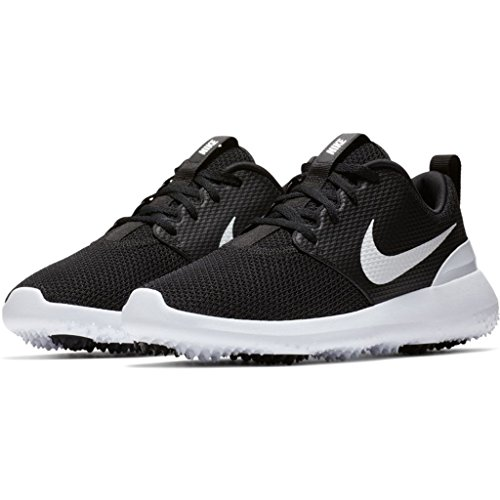 Nike Roshe G Scarpe Da Golf Spikeless 2018 Donna Nero / Bianco Medio 9