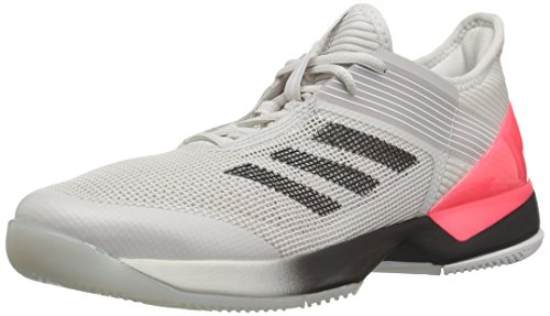 adidas Women's Adizero Ubersonic 3 Tennis Shoe, Grey/Black/White, 10 M US
