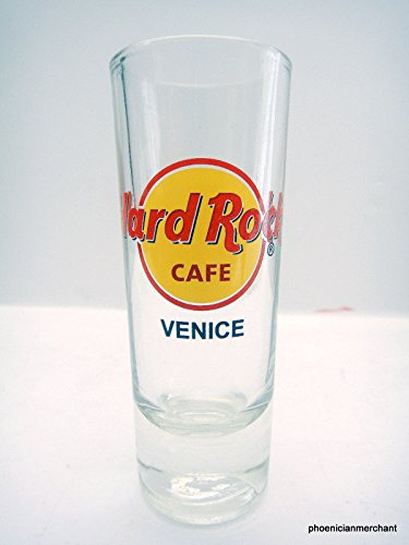 Venice Italy Hard Rock Cafe Red Logo Circle Cordial Shot Glass Shooter