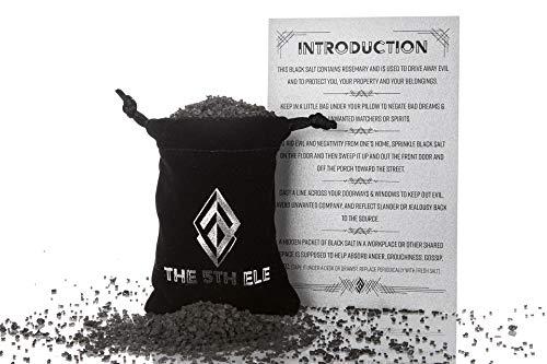 Black Salt for protection and driving away evil (50 gr/1.76 oz bag) (Treasures Stones Crystals & More)