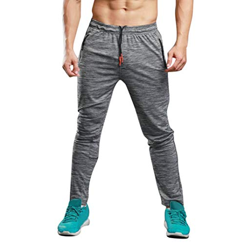 Realdo Clearance Sale, Mens Long Casual Loose Solid Sports Pants Gym Slim Fit Trousers Running Jogger Sweatpants(XX-Large,Gray)