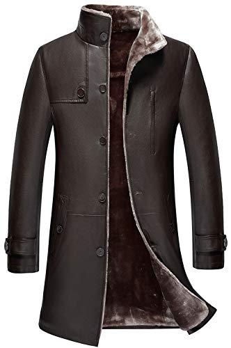 Longue Parka Faux Manteaux Z6m6 Qualité Lining Cachemire Veste Homme Outdoor Chaud Haute Marron Fur Windbreaker Leather Genuine Jacket Mens Hiver Épaissir Cuir X0qaX