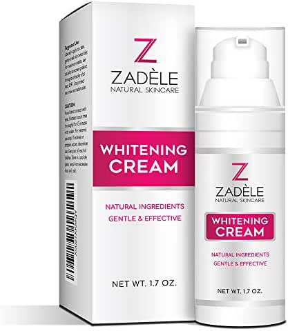 Whitening Cream for Face, Underarms & Intimate Parts - Made in USA - Skin Lightening Brightening for Armpits, Private Areas & Dark Age Spots - Sensitive Kojic Acid Bleaching - Acne Scar Remover