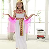 vogcrest Halloween Costumes Boy Girl Ancient Egypt Egyptian Pharaoh Cleopatra Prince Princess Costume for Children Kids Cosplay Clothing