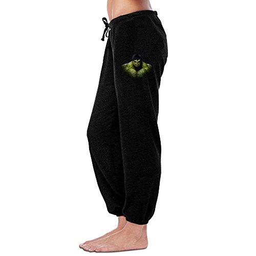 Women's Girls Sweatpants-Hulk Bruce Banner Head Grey Sweatpants L