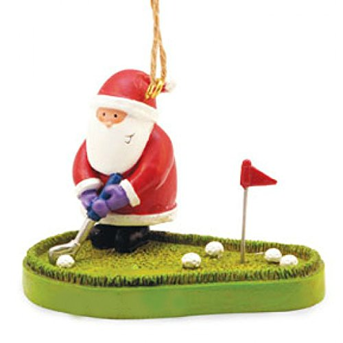 (Santa on the Putting Green Christmas Ornament)