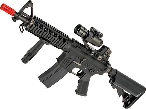 (Evike Colt Licensed AR-15 M4 CQB-R Airsoft AEG Rifle w/Lipo Ready Gearbox by King Arms (Model: 400 FPS))