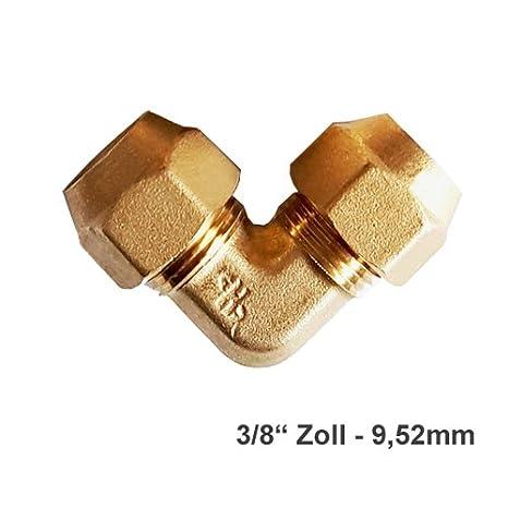 Verbindungsnippel B/ördelmutter Messing 1//2 Zoll Set f/ür geb/ördelte Kupferleitung K/ältemittelleitung