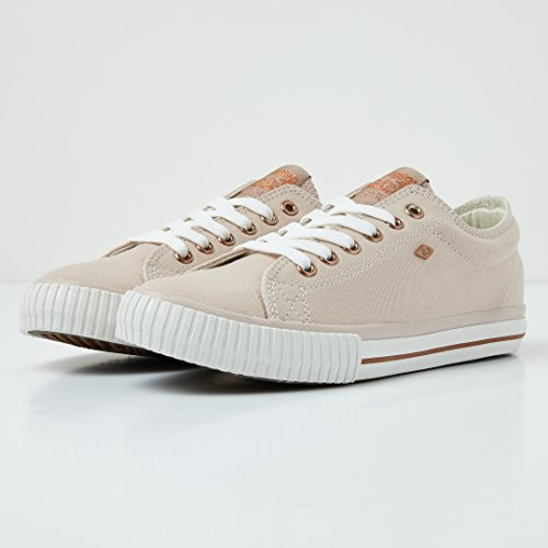 Off Gold Master Rose Canvas 3725 B41 BK Sneaker 03 Weiss White British Knights Lo Damen Nude 0qpxgvvw