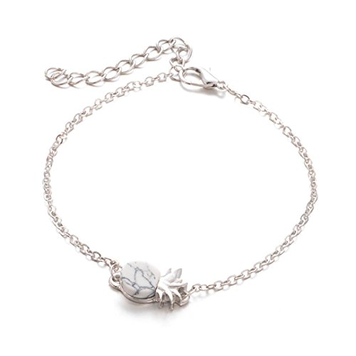 vely Pineapple Fruit Bracelet for Women Wrist Chain Charm Jewelry Top Gift (GoldB) ()