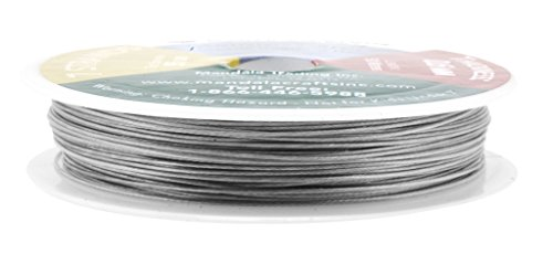Mandala Crafts Nylon Stainless Steel 18 20 22 24 Gauge 7 Strand Soft Flexible Jewelry Making Beading Wire (0.6MM 98FT)
