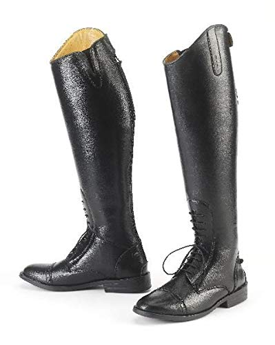 EquiStar Ladies All Weather Field Boot - Black 10 - Extra Wide