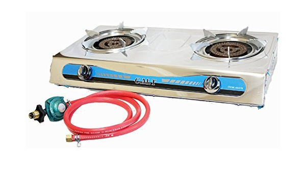 PROPANE STAINLESS 2 DOUBLE HEAD BURNER GAS ...