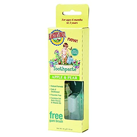 Earth's Best Toothpaste - Apple and Pear - Age 6 Months to 3 Years - 1.6 oz (Dycal Cement)