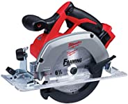 """Milwaukee M18 2630-20 18 Volt Lithium Ion 6-1/2"""" 3,500 RPM Cordless Circular Saw w/ Magnesium Guards and"""