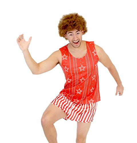 Richard Simmons Aerobics Costume Set with Afro Wig