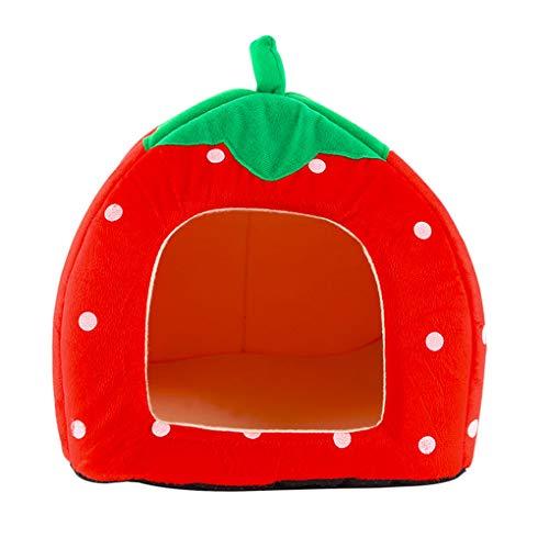 Krastal Dog Bed Fruit Cat Nest Teddy Dog Strawberry Pineapple Watermelon Bed Warm Pet Foldable Dog House