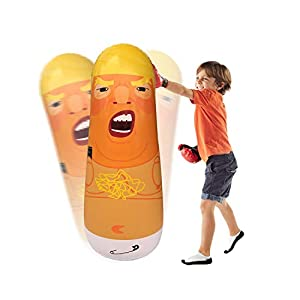 Donald Trump Inflatable Punching Bag - Hilarious Inflatable Democrat Republican Doll for Healthy Stress Relief and Jokes Pranks Gags