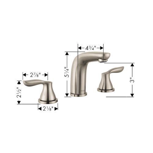 Hansgrohe 04169820 Solaris E Widespread Faucet Brushed