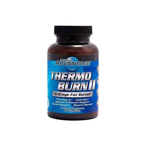 Pure Advantage Thermo-Burn II 5-Stage Fat Burner, 90 Count